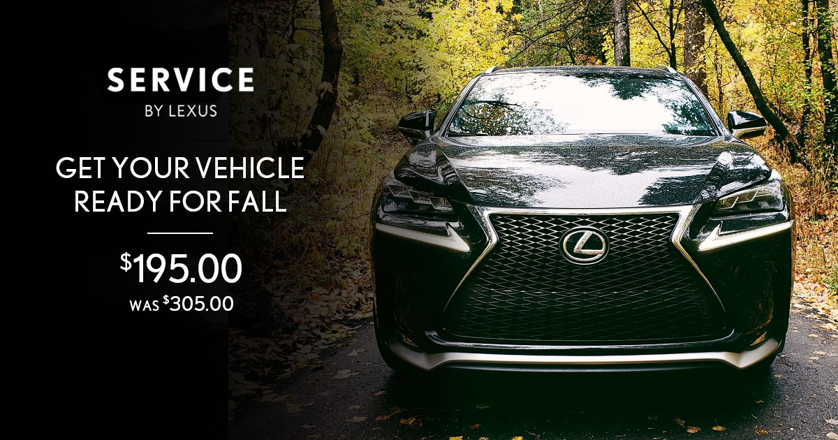 Lexus Fall Refresh Service Special Coupon