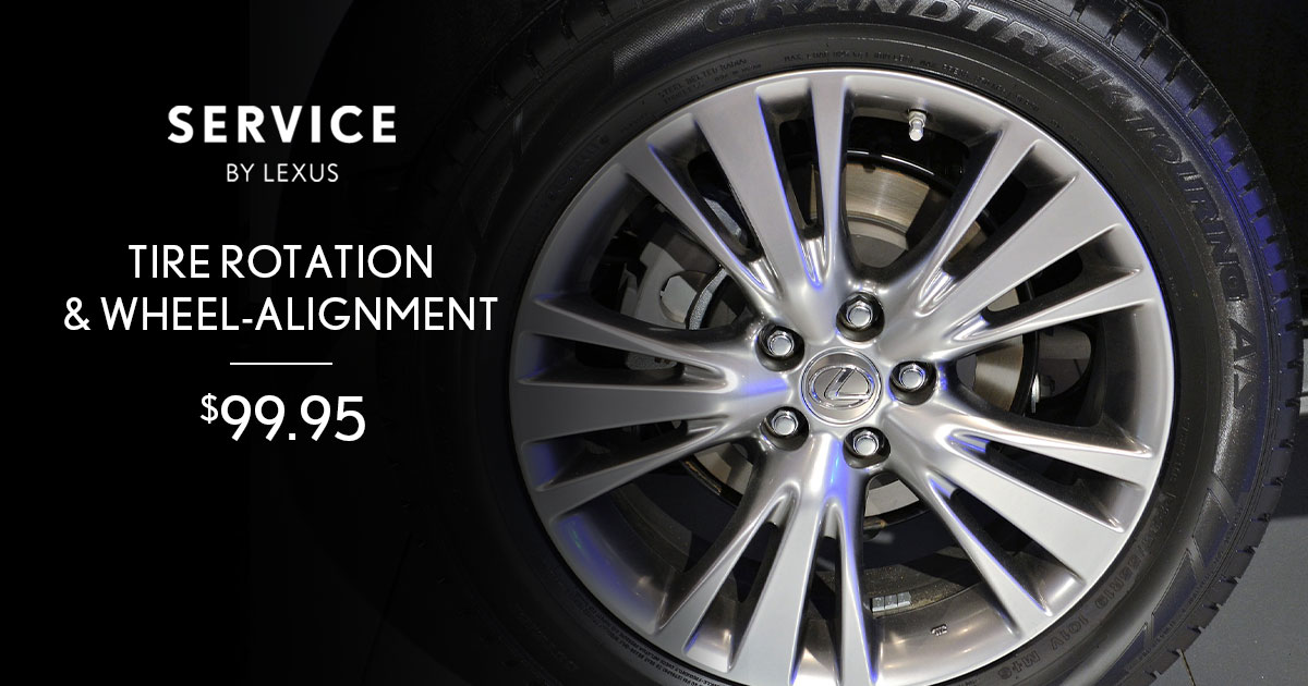 Lexus Tire Rotation & Alignment Service Special Coupon