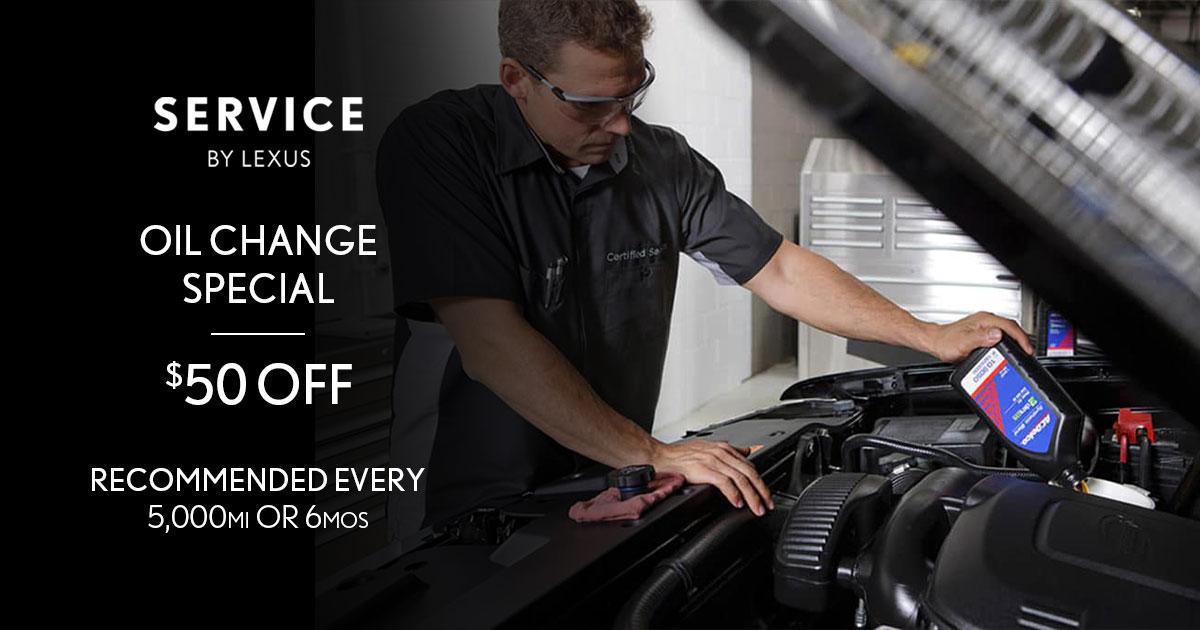 Lexus Genuine Lexus Oil Change Service Special Coupon
