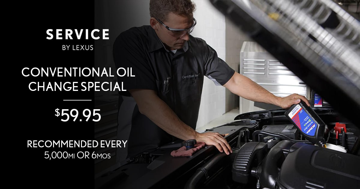 Lexus Conventional Oil Change Service Special Coupon