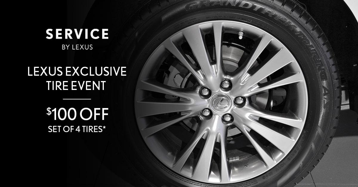 Lexus Exclusive Tire Event Service Special Coupon