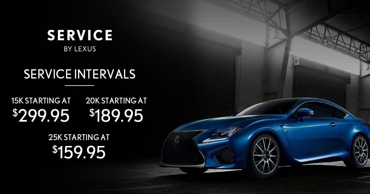 Lexus 15k/20k/25k Mile Intervals Service Special Coupon