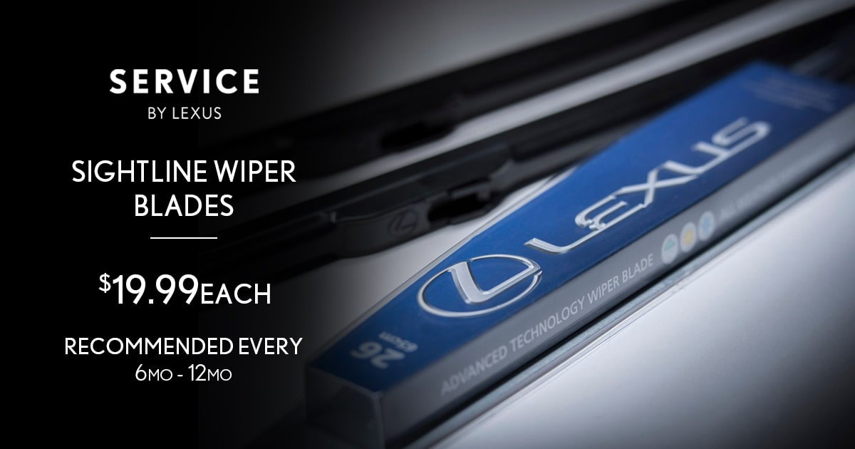 Lexus Sightline Wiper Blades Service Special Coupon