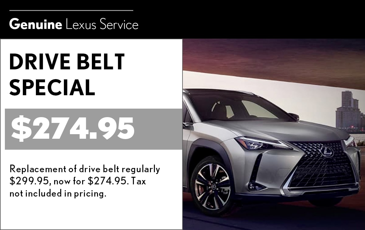 Lexus Drive Belt Service Special Coupon