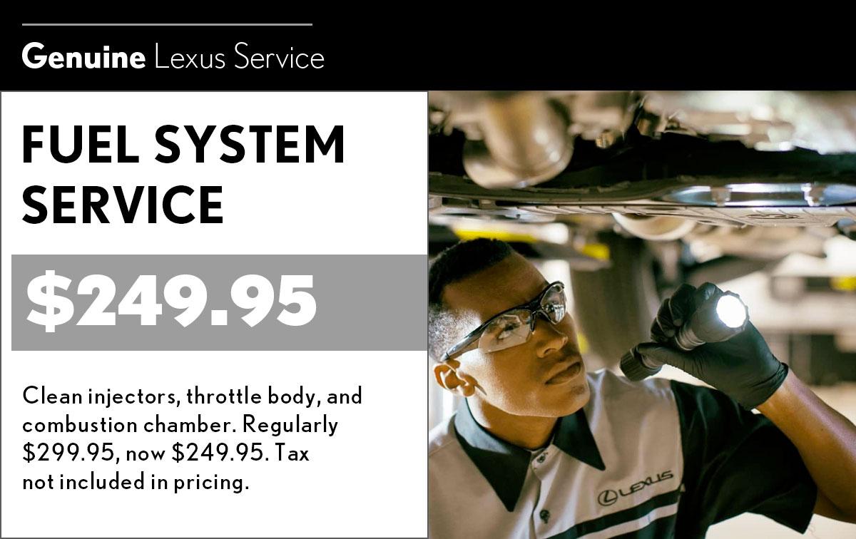 Lexus Fuel System Service Special Coupon