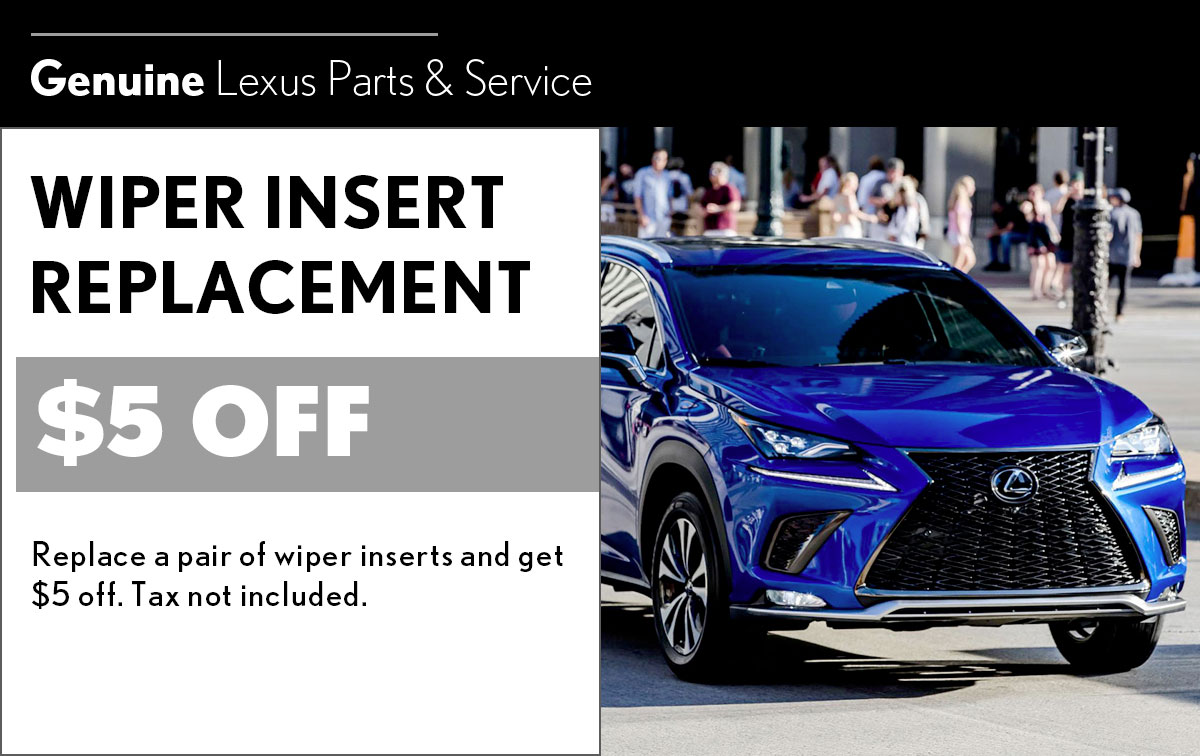 Lexus Wiper Insert Replacement Service Special Coupon