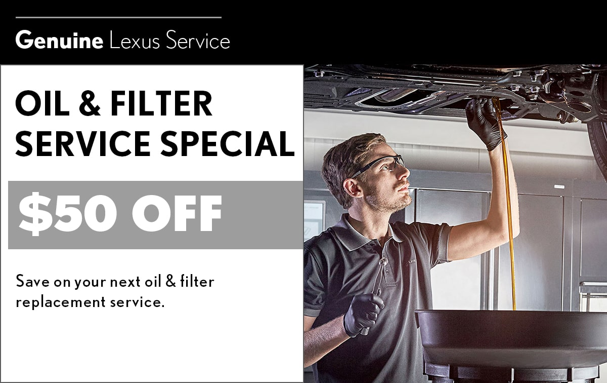 Lexus Oil & Filter Service Special Coupon