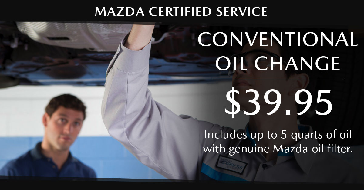 Mazda Conventional Oil Change Service Special Coupon