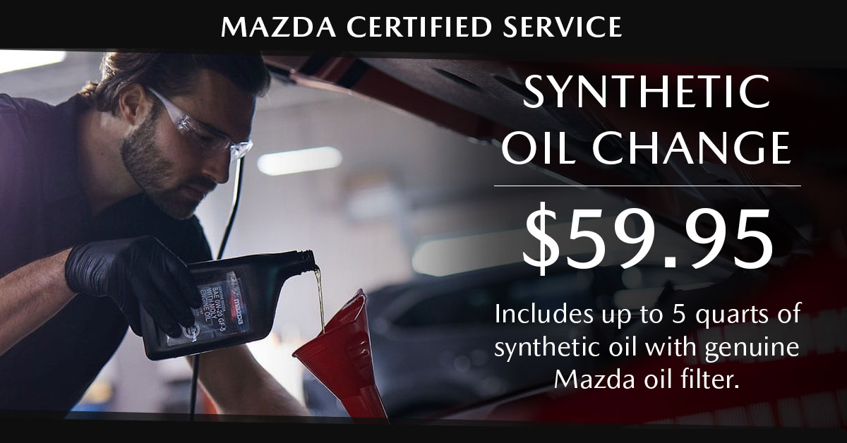 Mazda Synthetic Oil Change Service Special Coupon