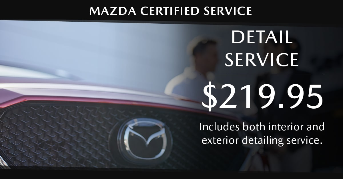 Mazda Detail Service Special Coupon