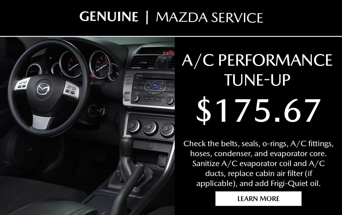 Mazda A/C Performance Tune-Up Special Coupon