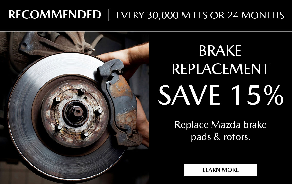 Mazda Brake Replacement Service Special Coupon