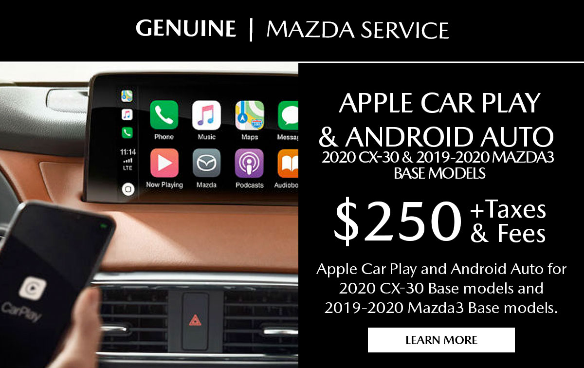 Mazda Apple CarPlay/Android Auto Special Coupon