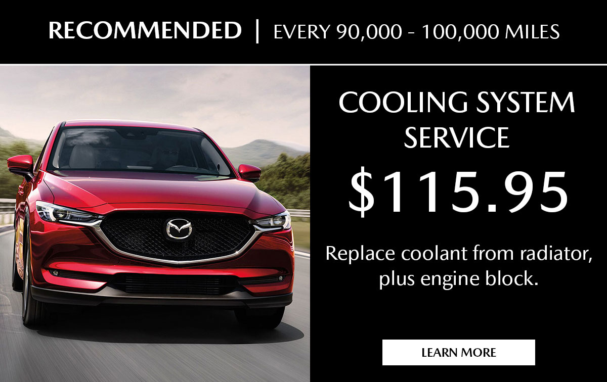 Mazda Coolant Fluid Exchange Service Special Coupon