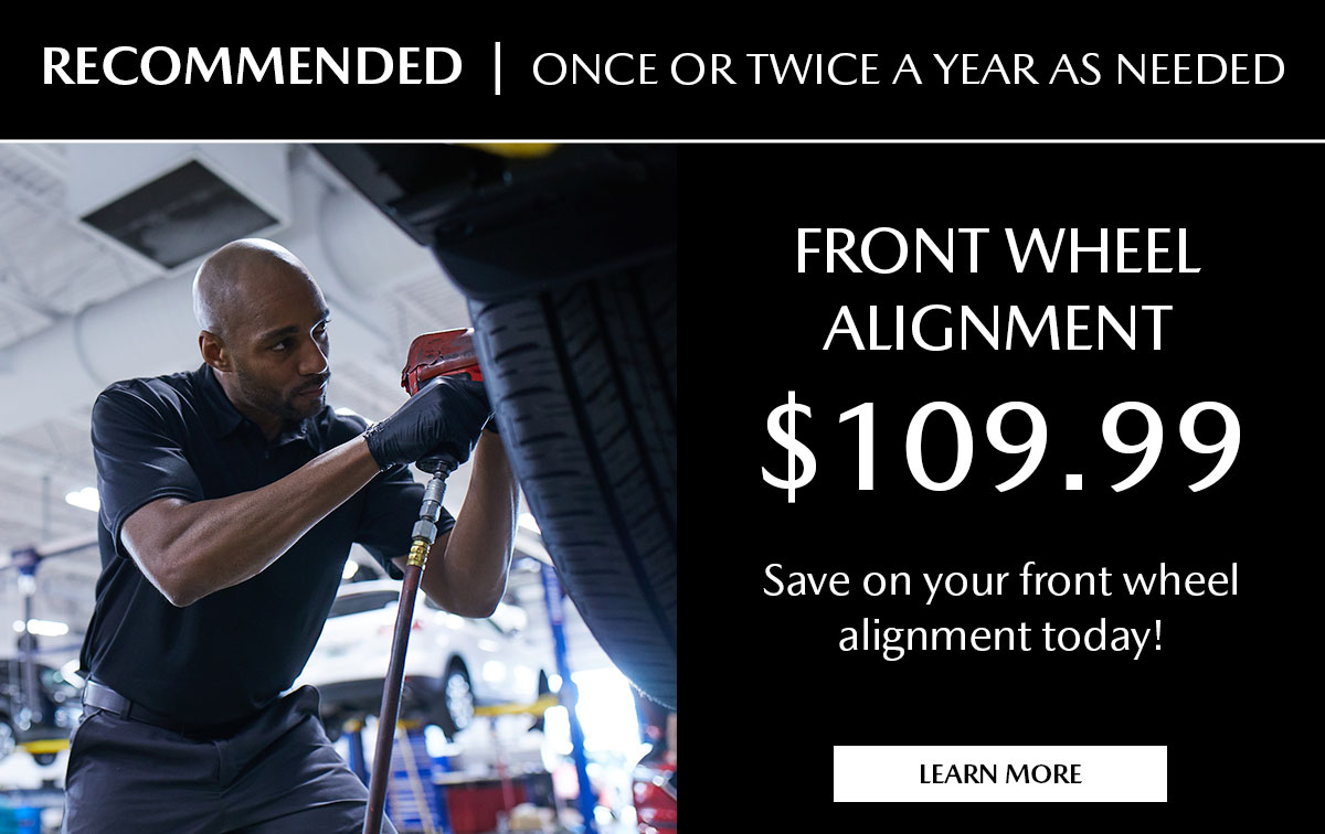 Mazda Front Wheel Alignment Service Special Coupon