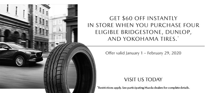 Mazda $60 OFF Tire Offer