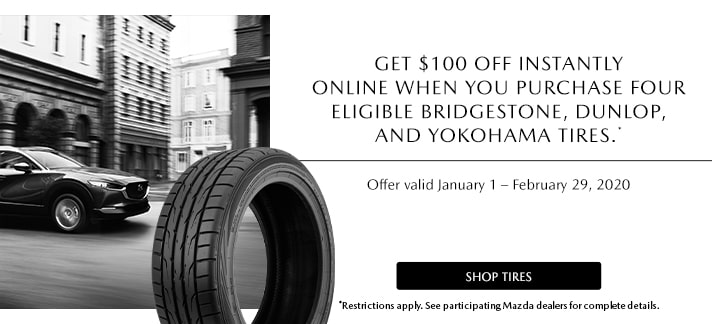Mazda $100 OFF Tire Offer