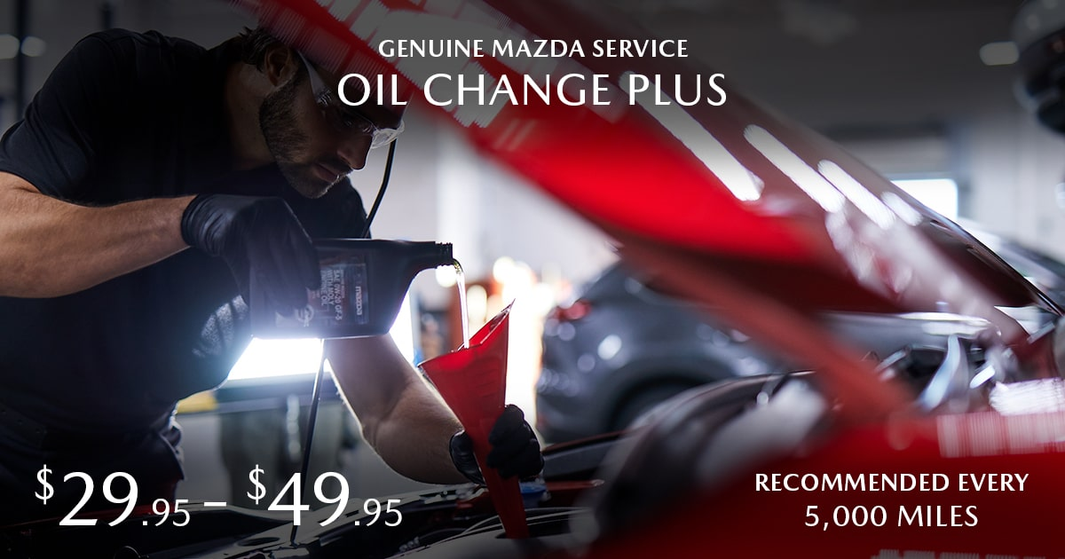 Mazda Oil Change Plus Service Special Coupon