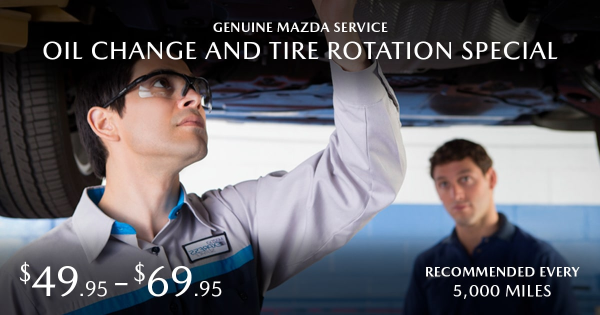 Mazda Oil Change & Tire Rotation Service Special Coupon