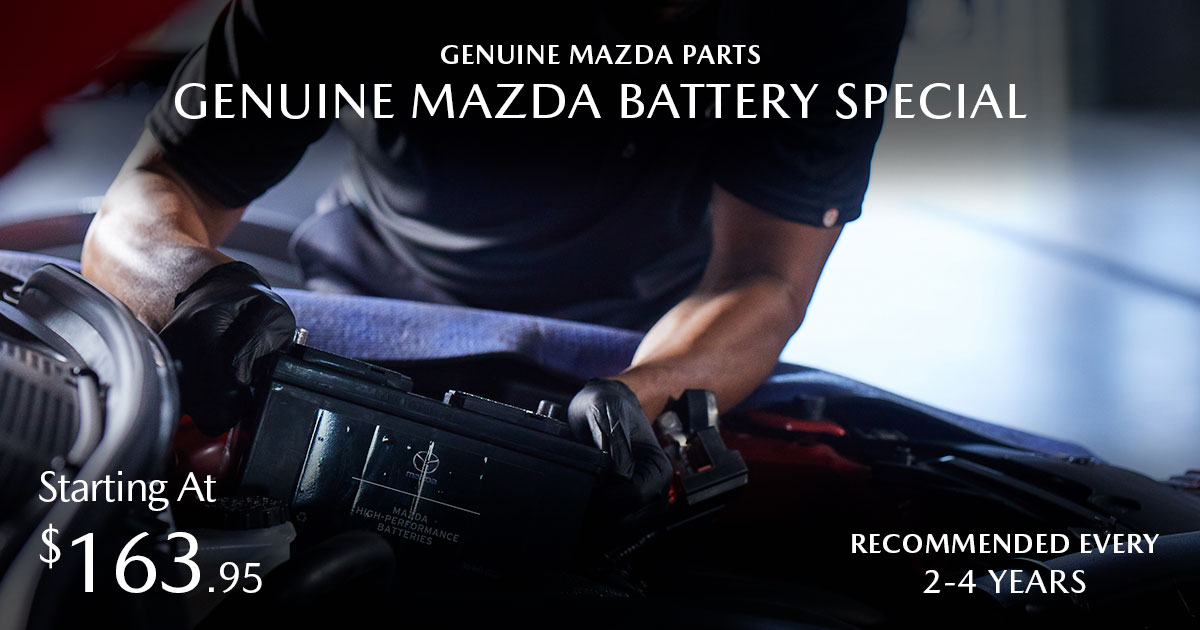 Mazda Battery Service Special Coupon