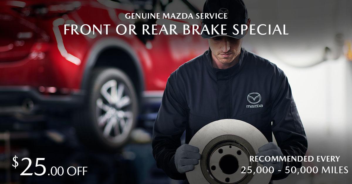 Mazda Brake Service Special Coupon