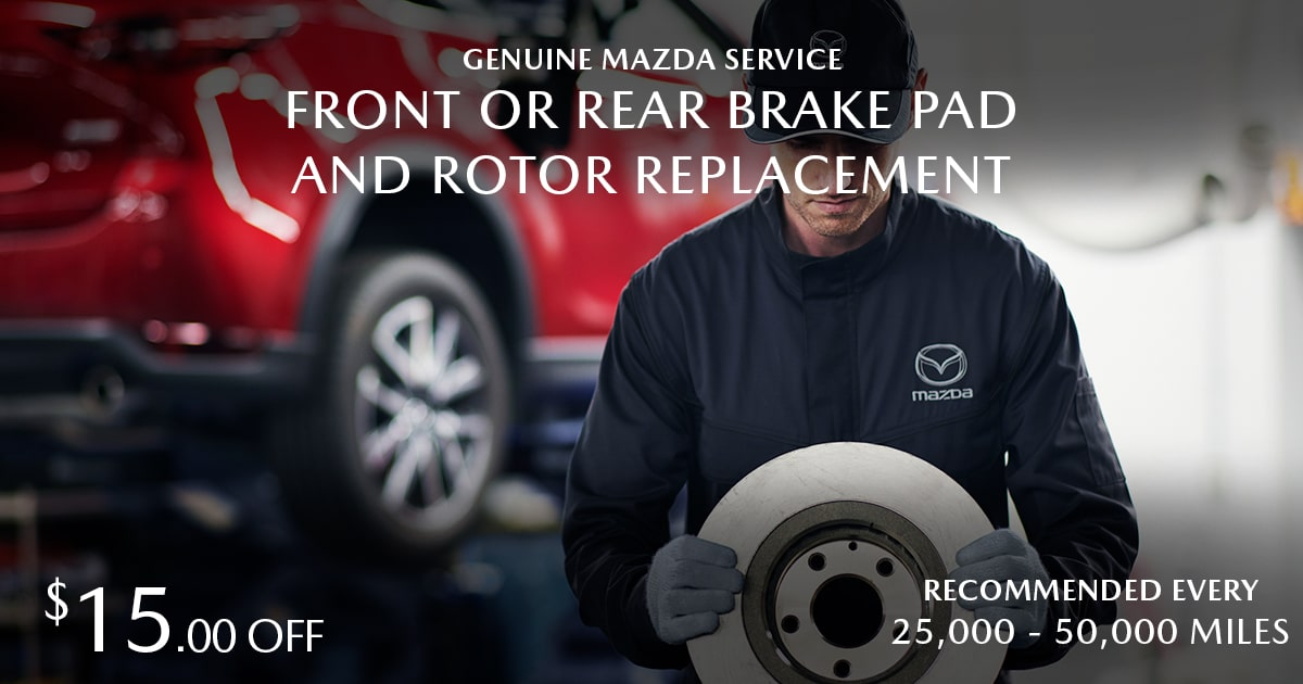 Mazda Front/Rear Brake Pad & Rotor Replacement Service Special Coupon