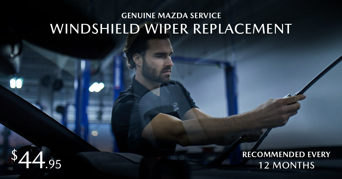 Mazda Windshield Wiper Replacement Service Special Coupon