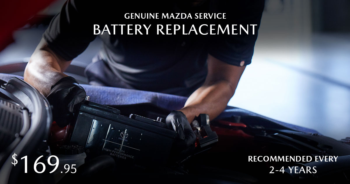 Mazda Battery Replacement Service Special Coupon