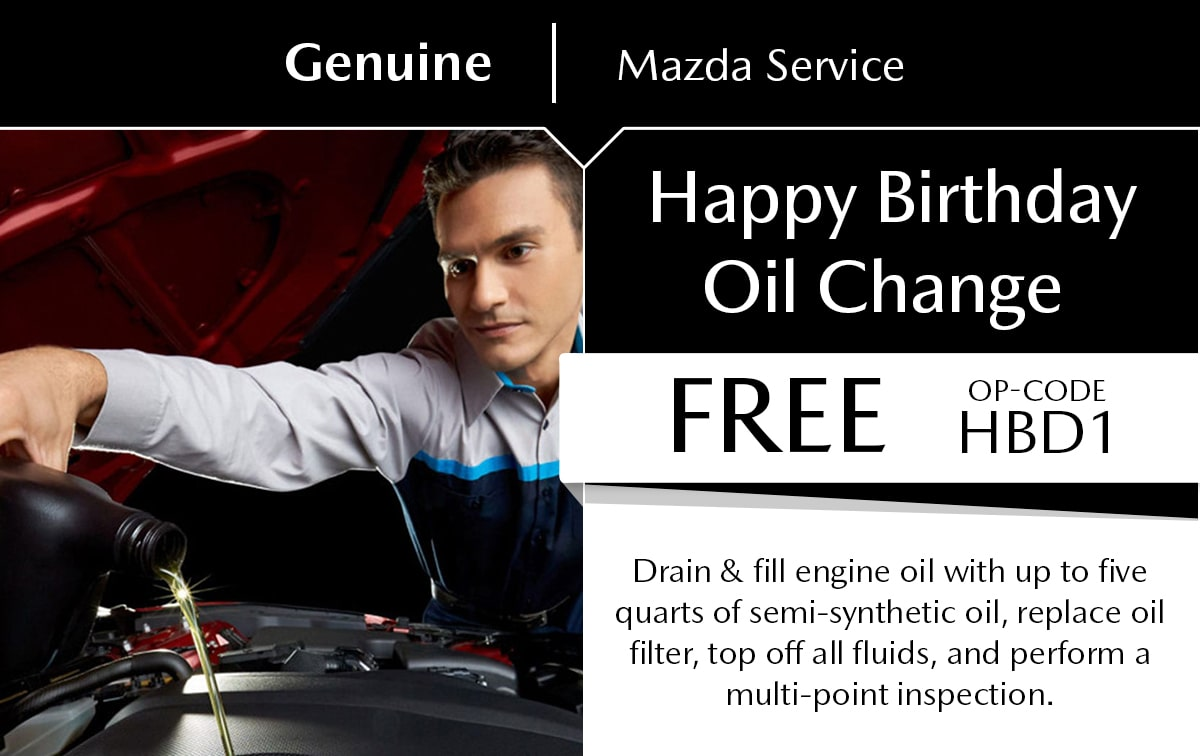 Mazda Happy Birthday Oil Change Service Special Coupon