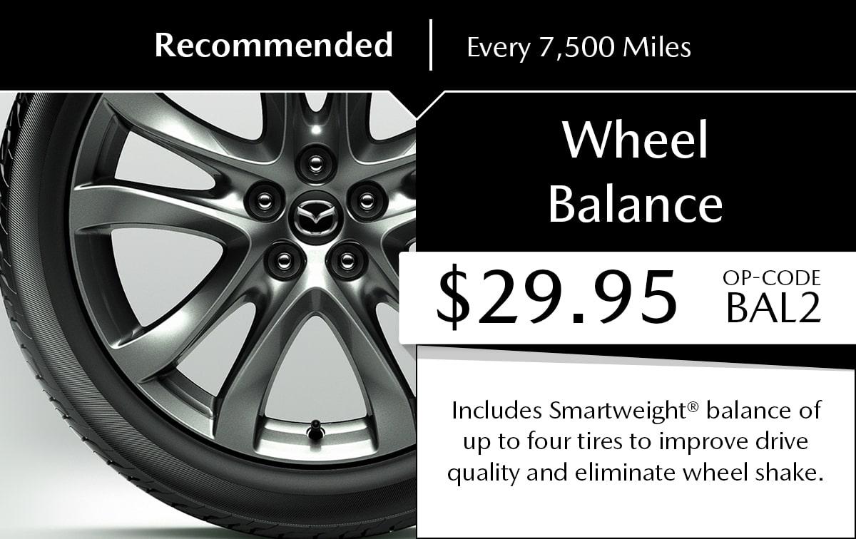 Mazda Wheel Balance Service Special Coupon