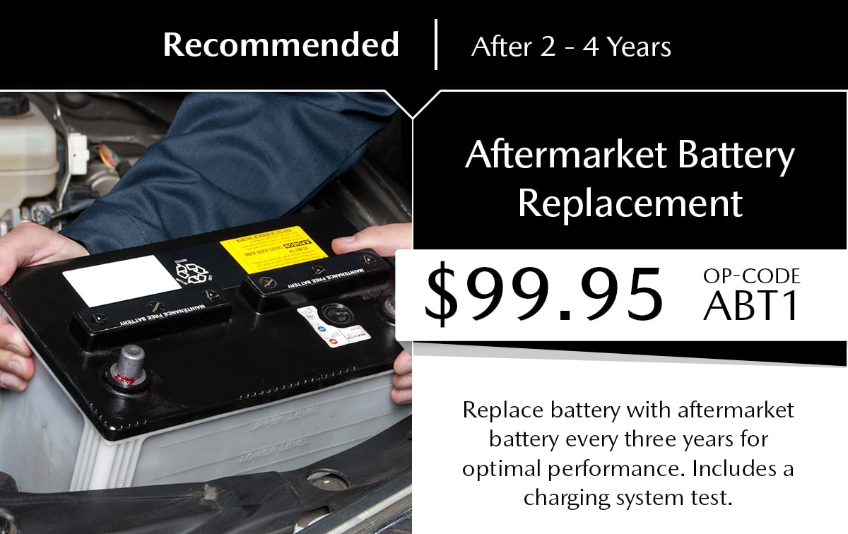 Mazda Aftermarket Battery Replacement Service Special Coupon