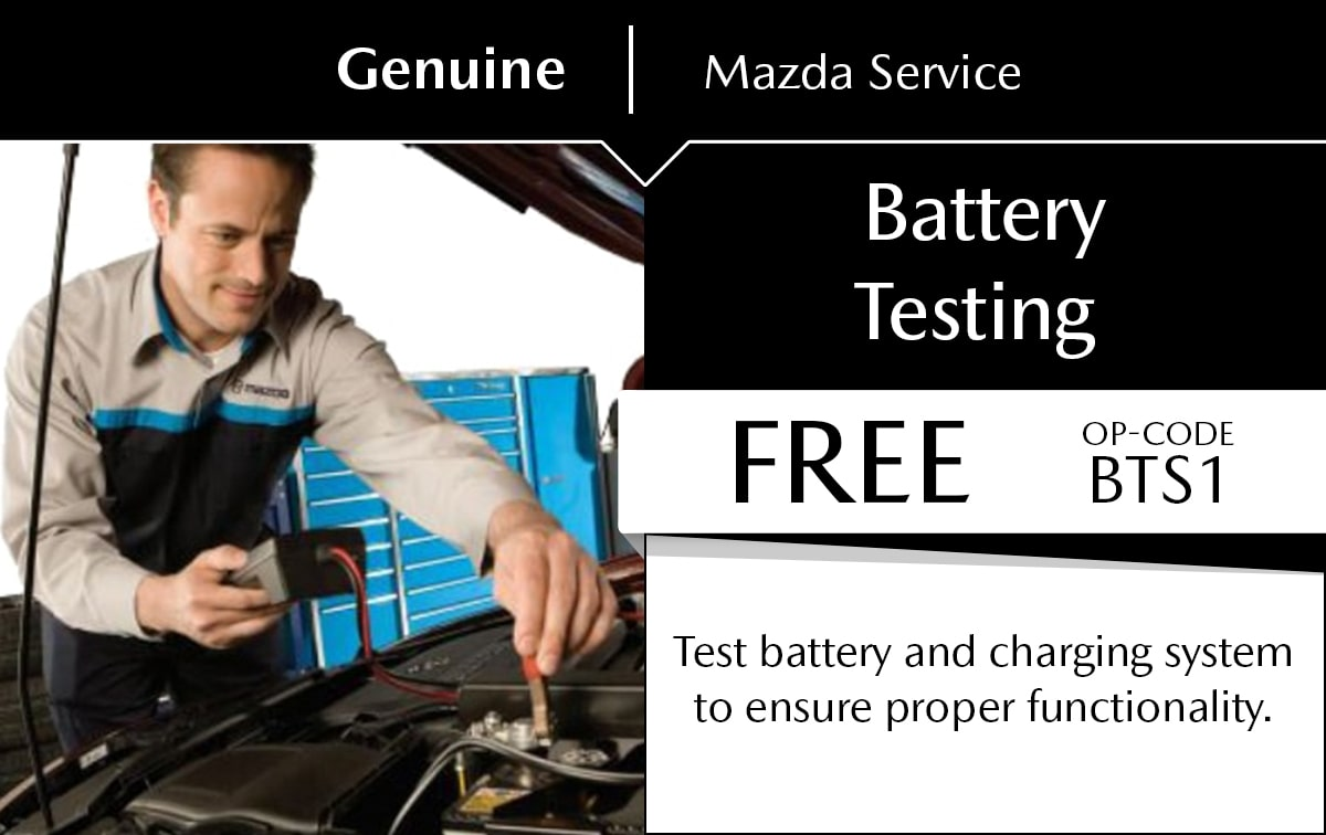 Mazda Battery Testing Service Special Coupon