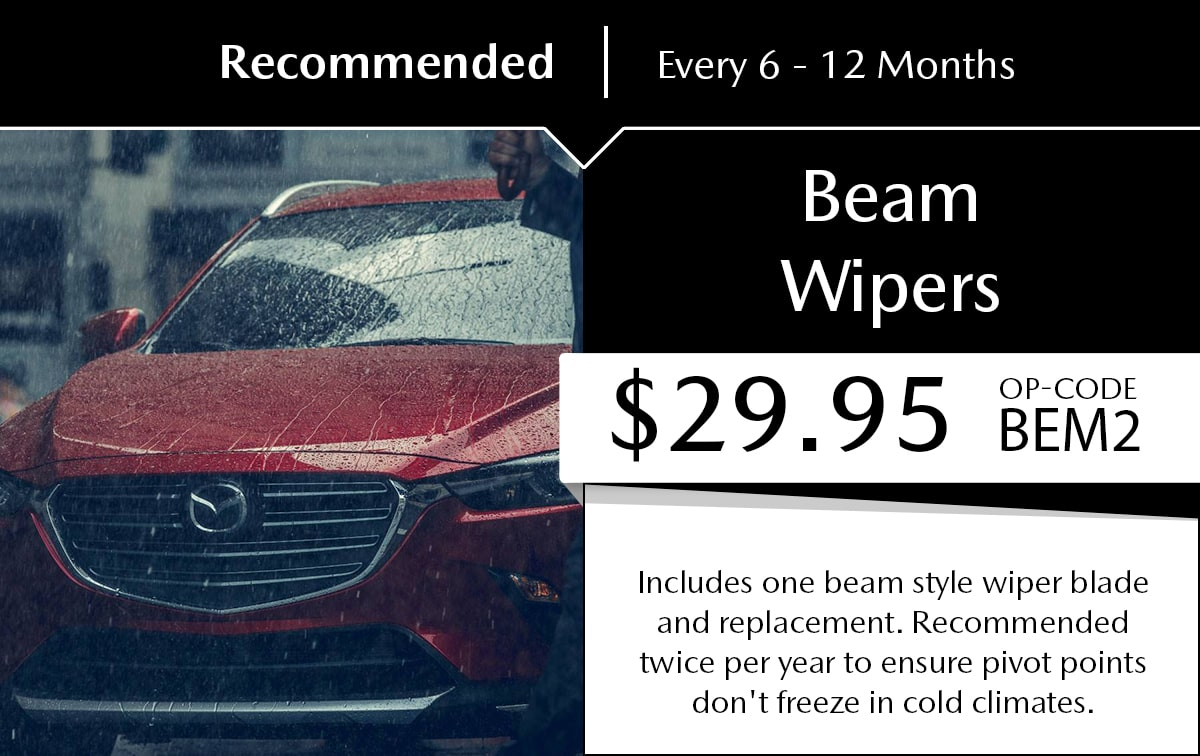 Mazda Beam Wipers Service Special Coupon