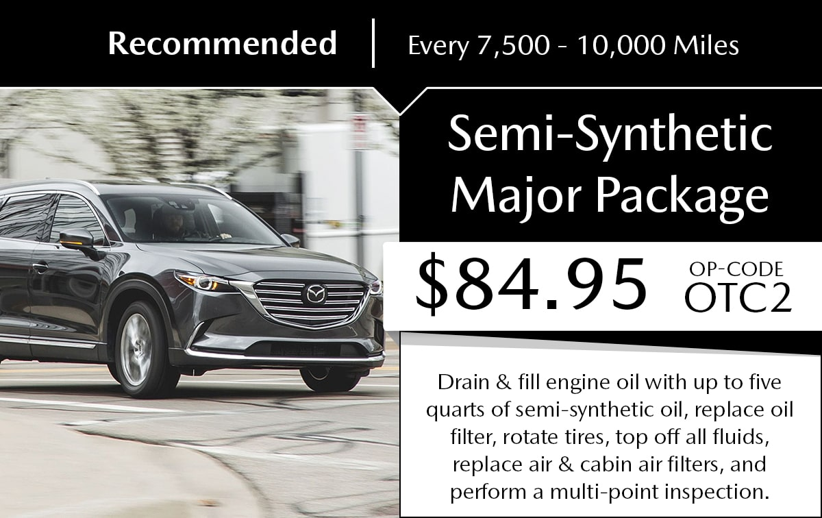 Mazda Semi-Synthetic Major Package Service Special Coupon