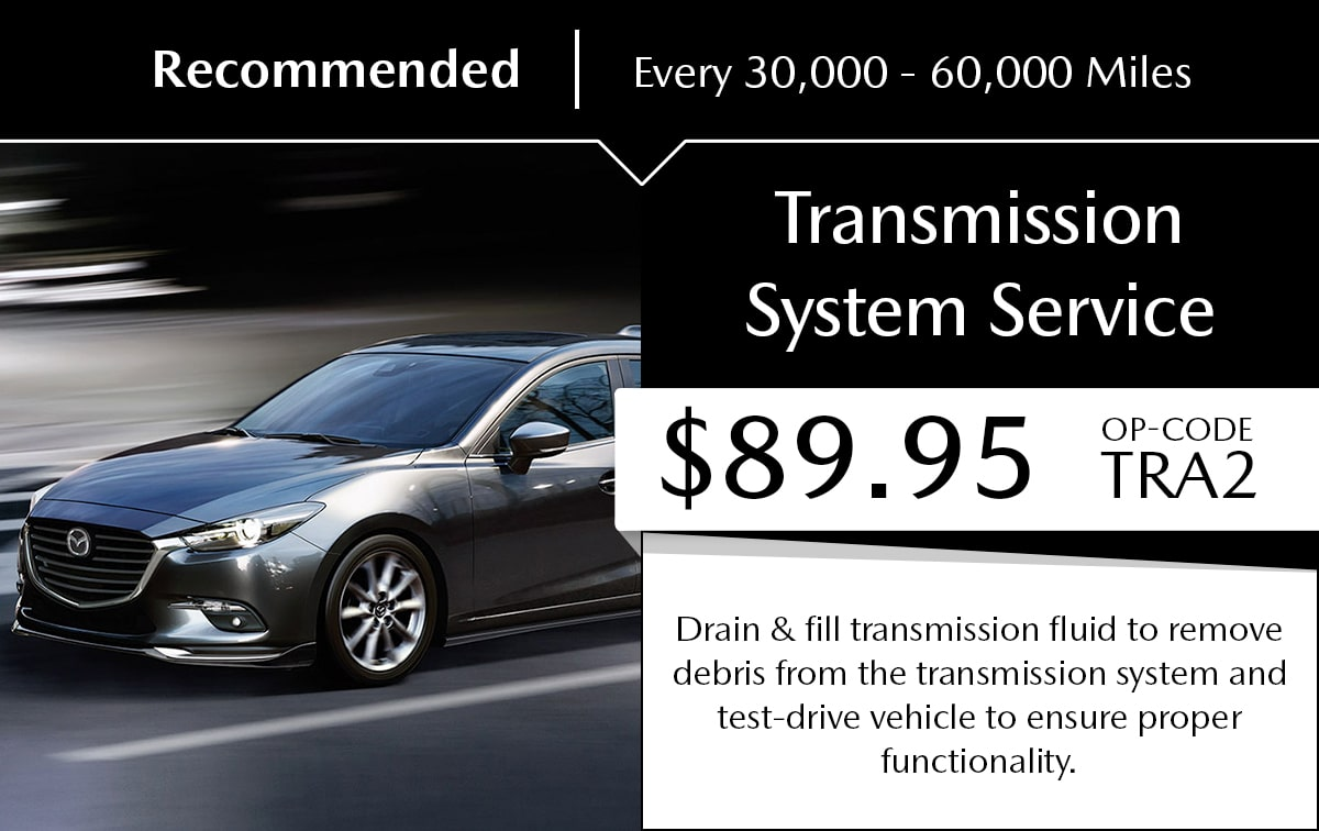 Mazda Transmission System Service Special Coupon