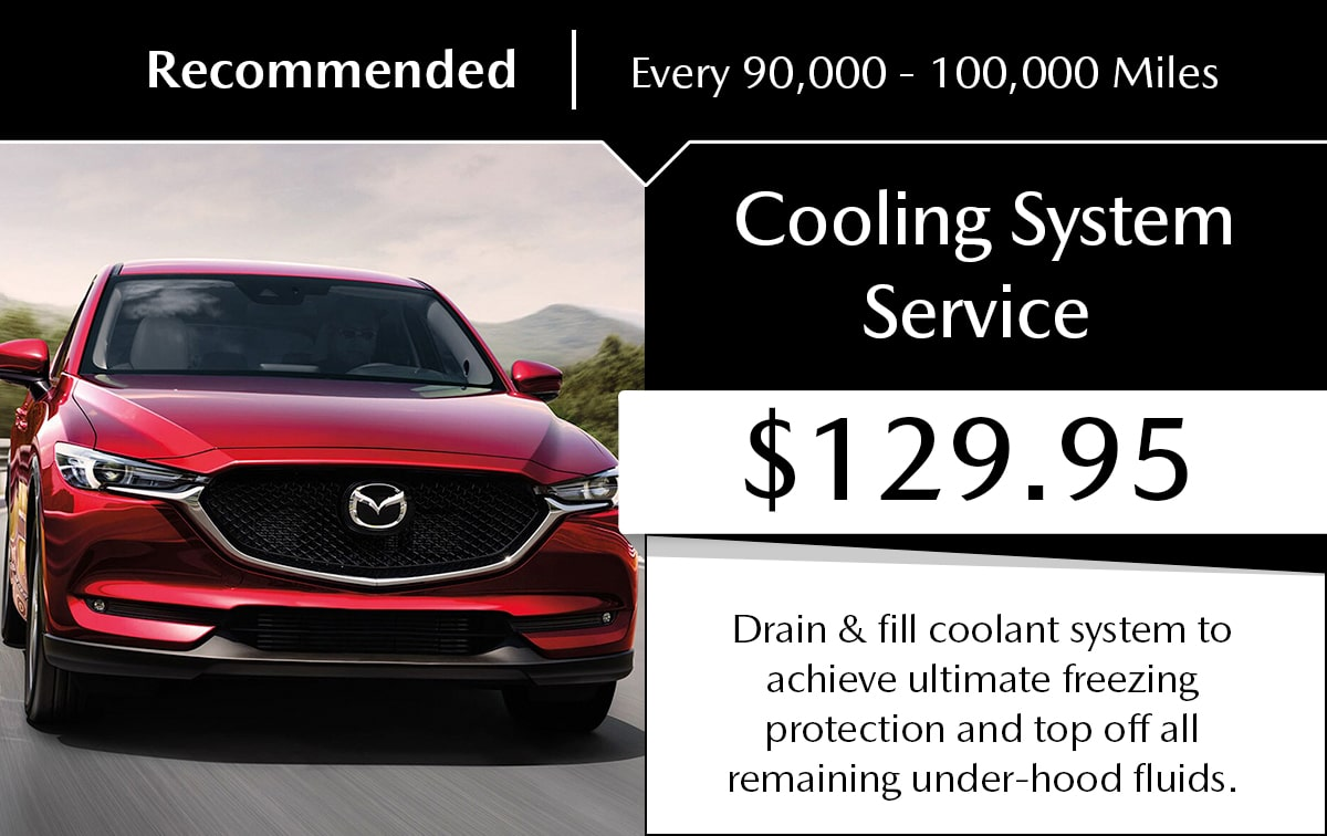 Mazda Cooling System Service Special Coupon