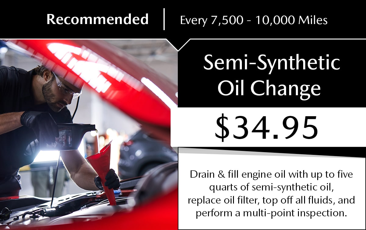 Mazda Semi-Synthetic Oil Change Service Special Coupon