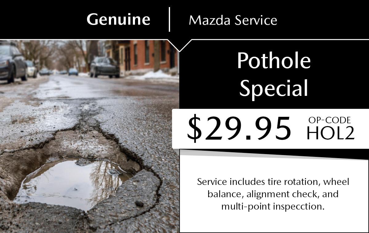 Mazda Pothole Service Special Coupon