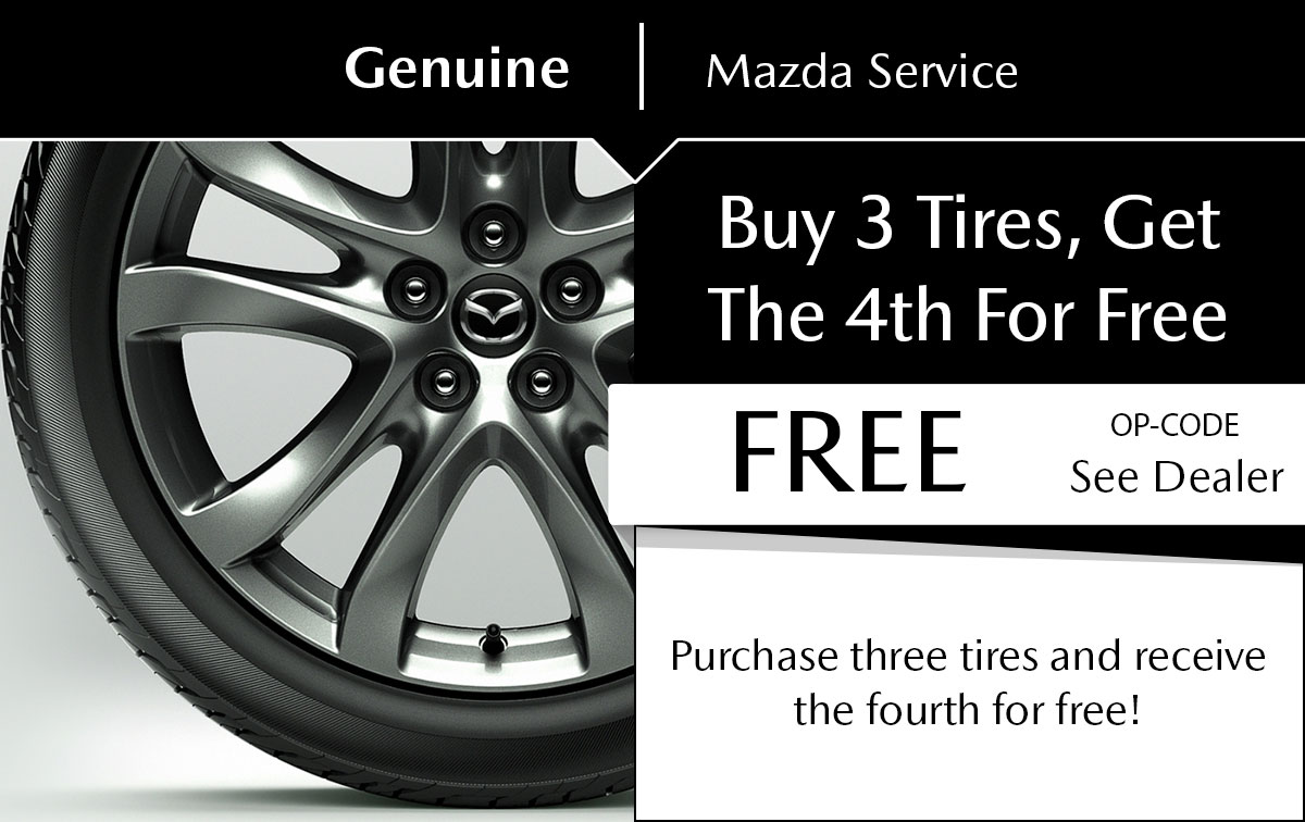 Mazda Tire Purchase Service Special Coupon