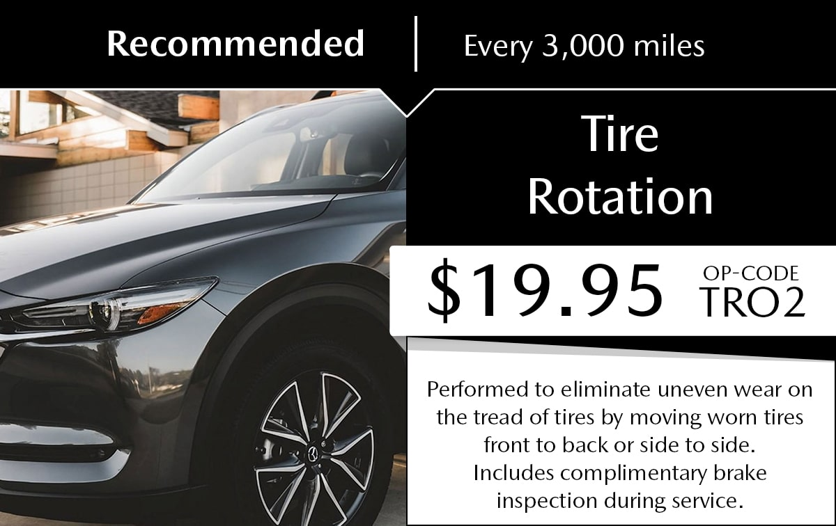 Mazda Tire Rotation Service Special Coupon