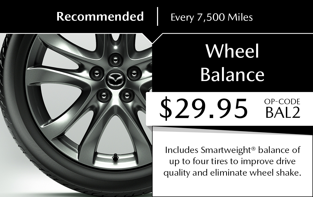 Mazda Wheel Balance Service Special Coupon