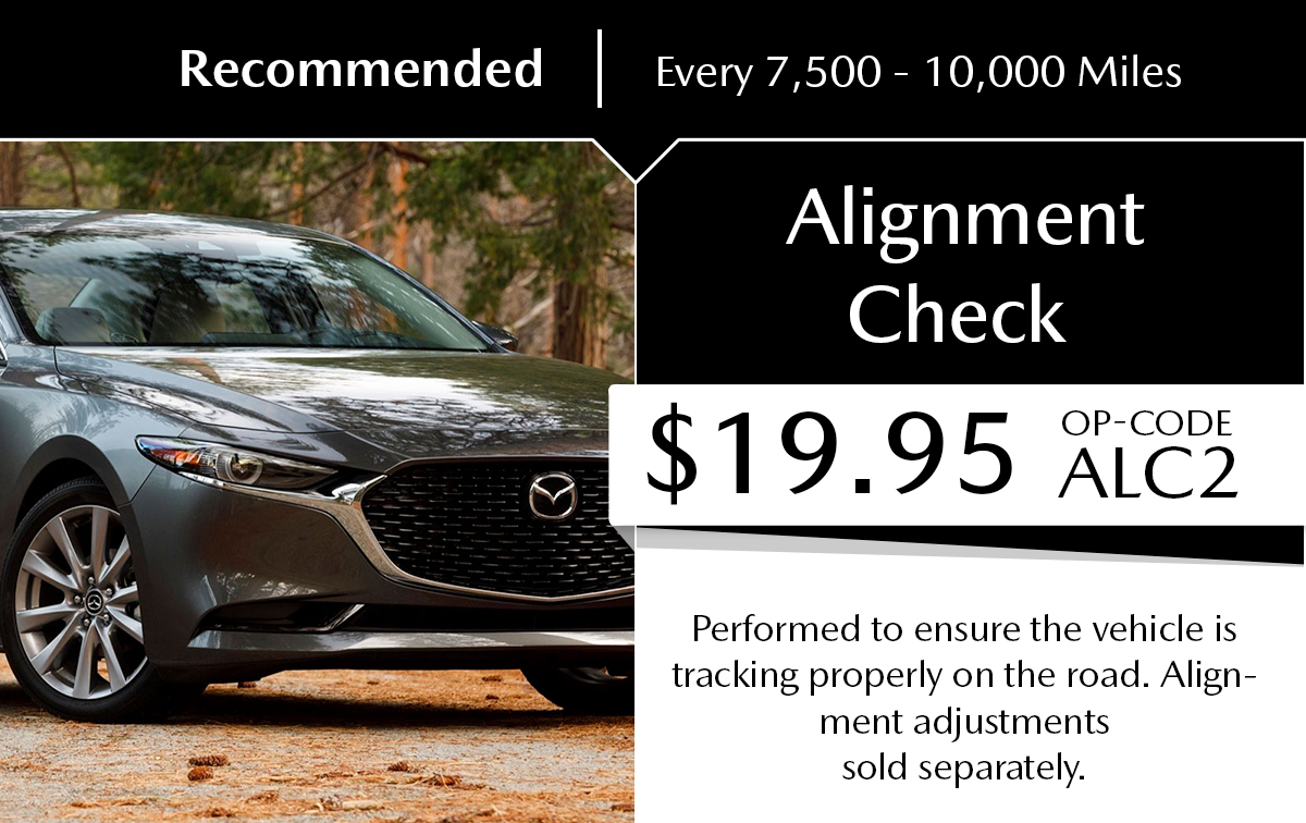 Mazda Alignment Check Service Special Coupon