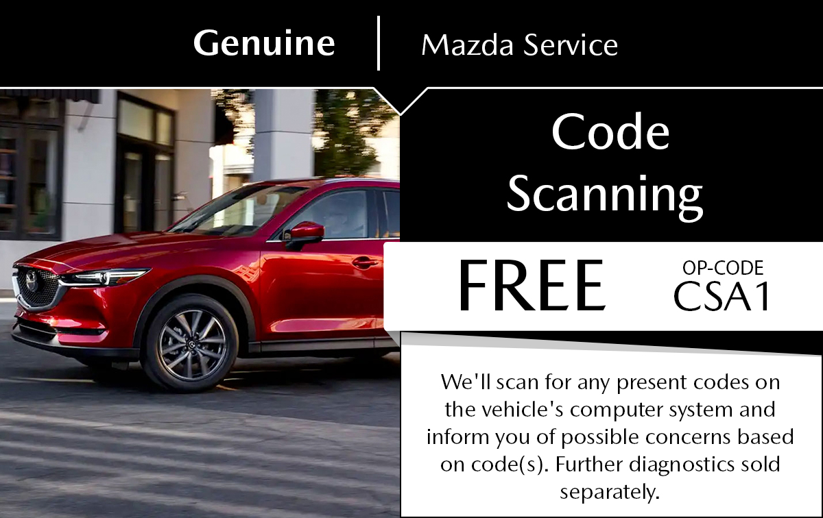 Mazda Code Scanning Service Special Coupon