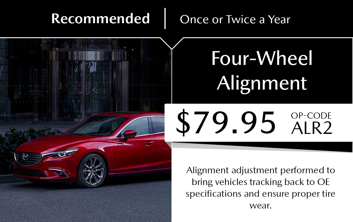 Mazda Four-Wheel Alignment Service Special Coupon