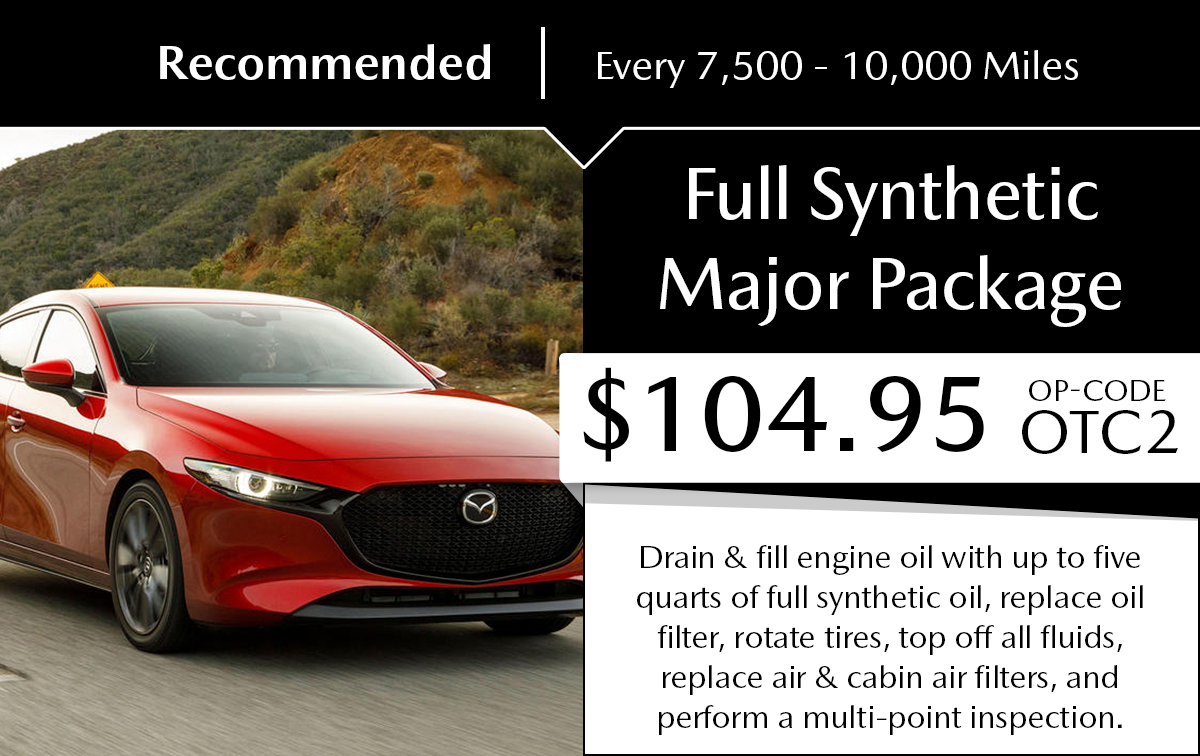 Mazda Full Synthetic Major Package Service Special Coupon