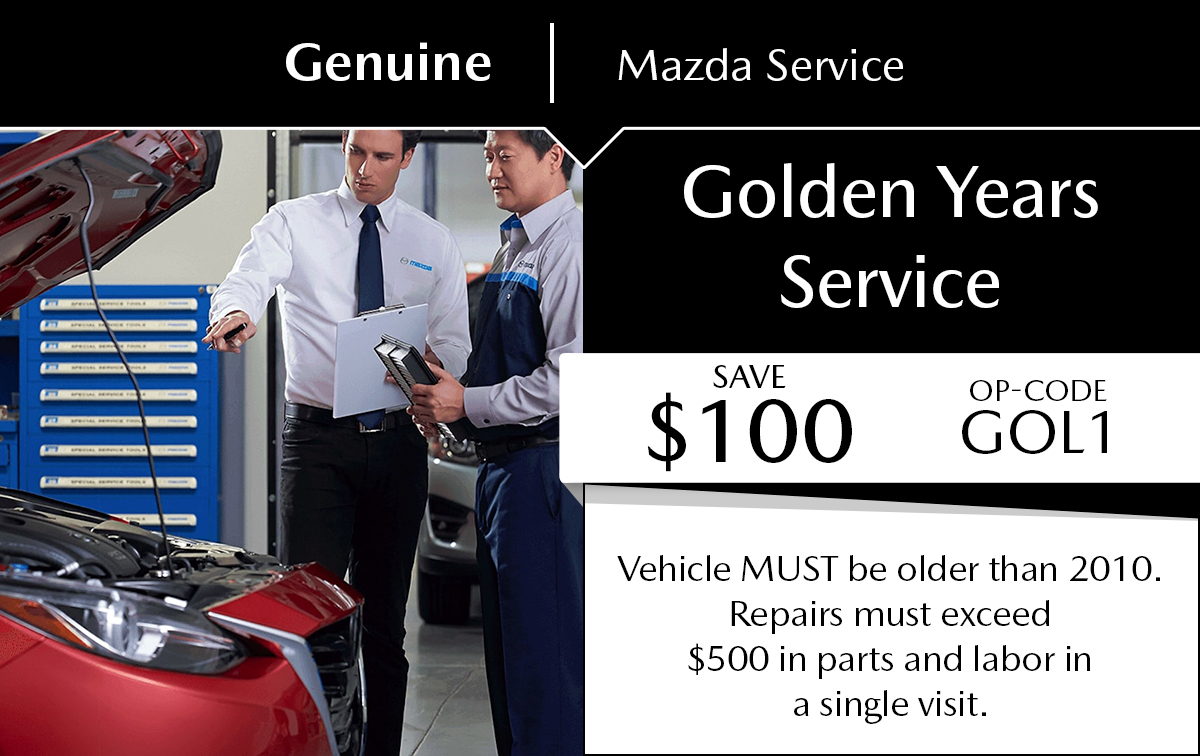 Mazda Golden Years Service Service Special Coupon