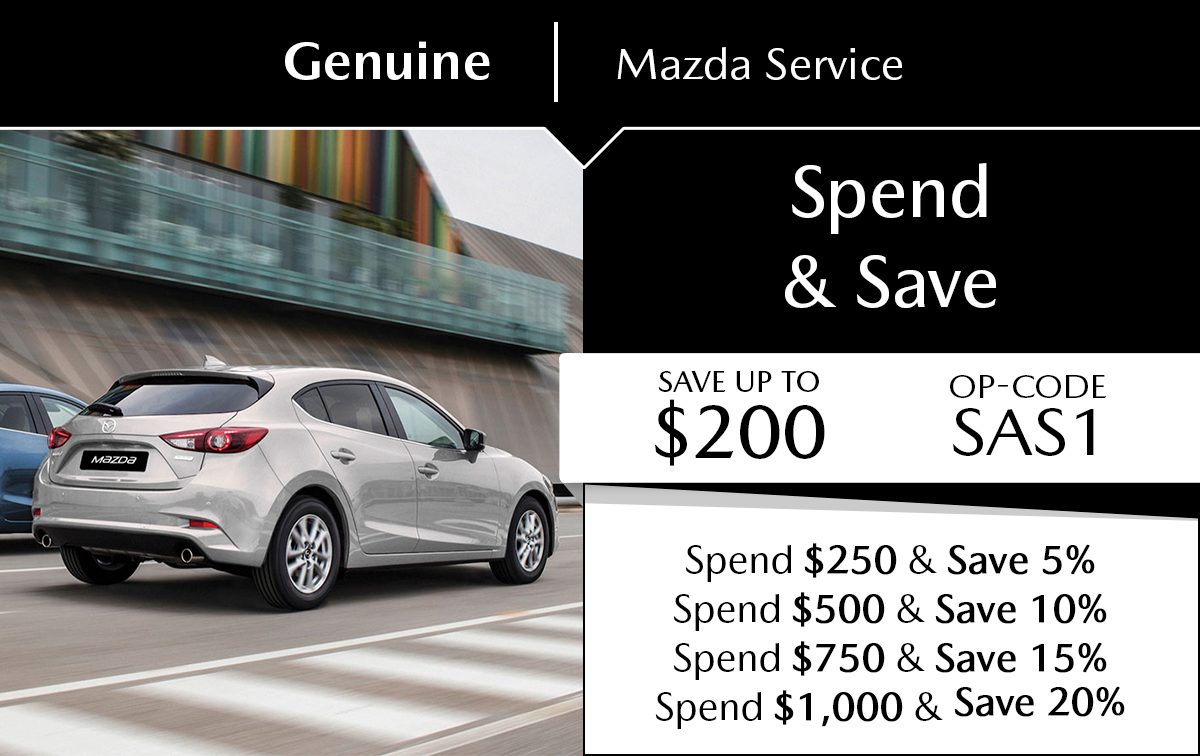 Mazda Spend & Save Service Special Coupon