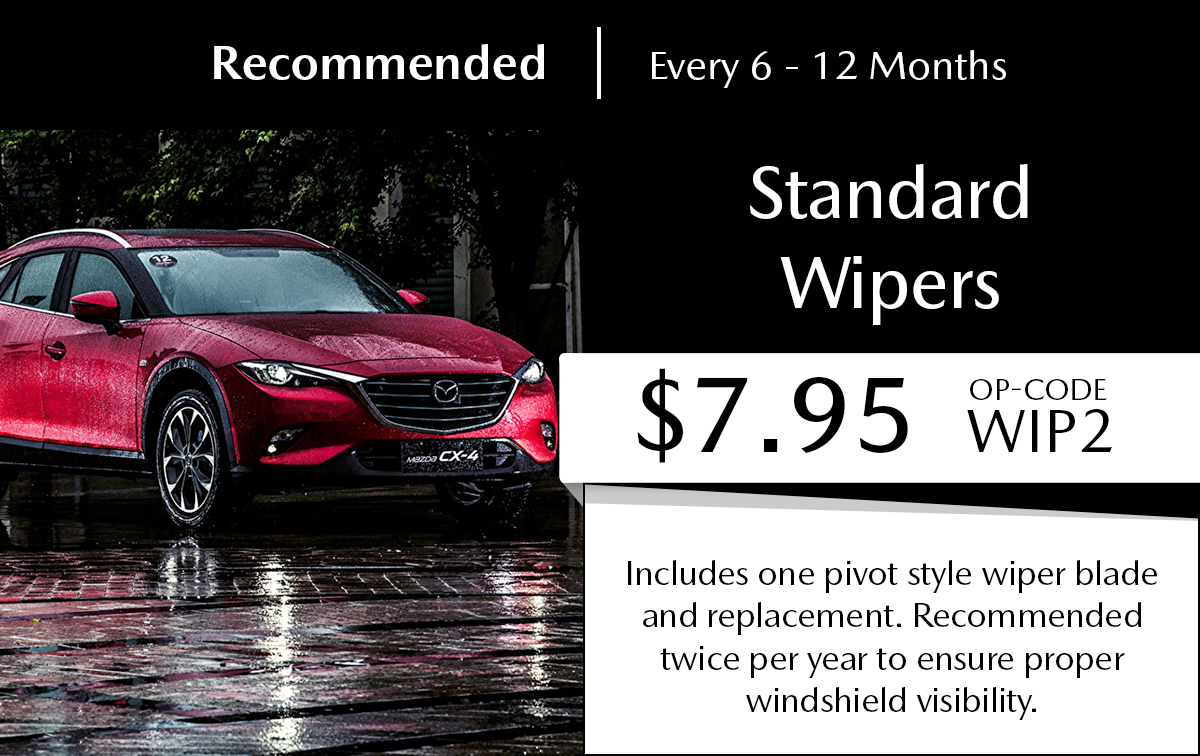 Mazda Standard Wipers Service Special Coupon