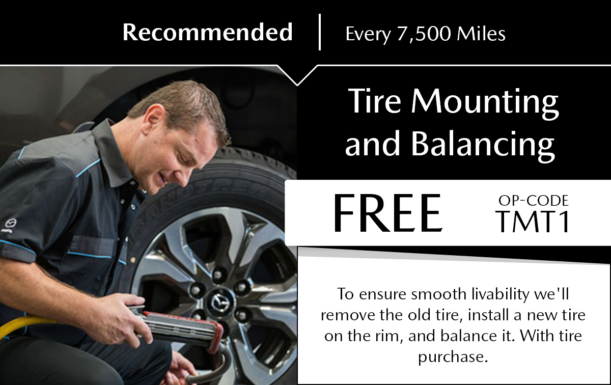 Mazda Tire Mounting and Balancing Service Special Coupon