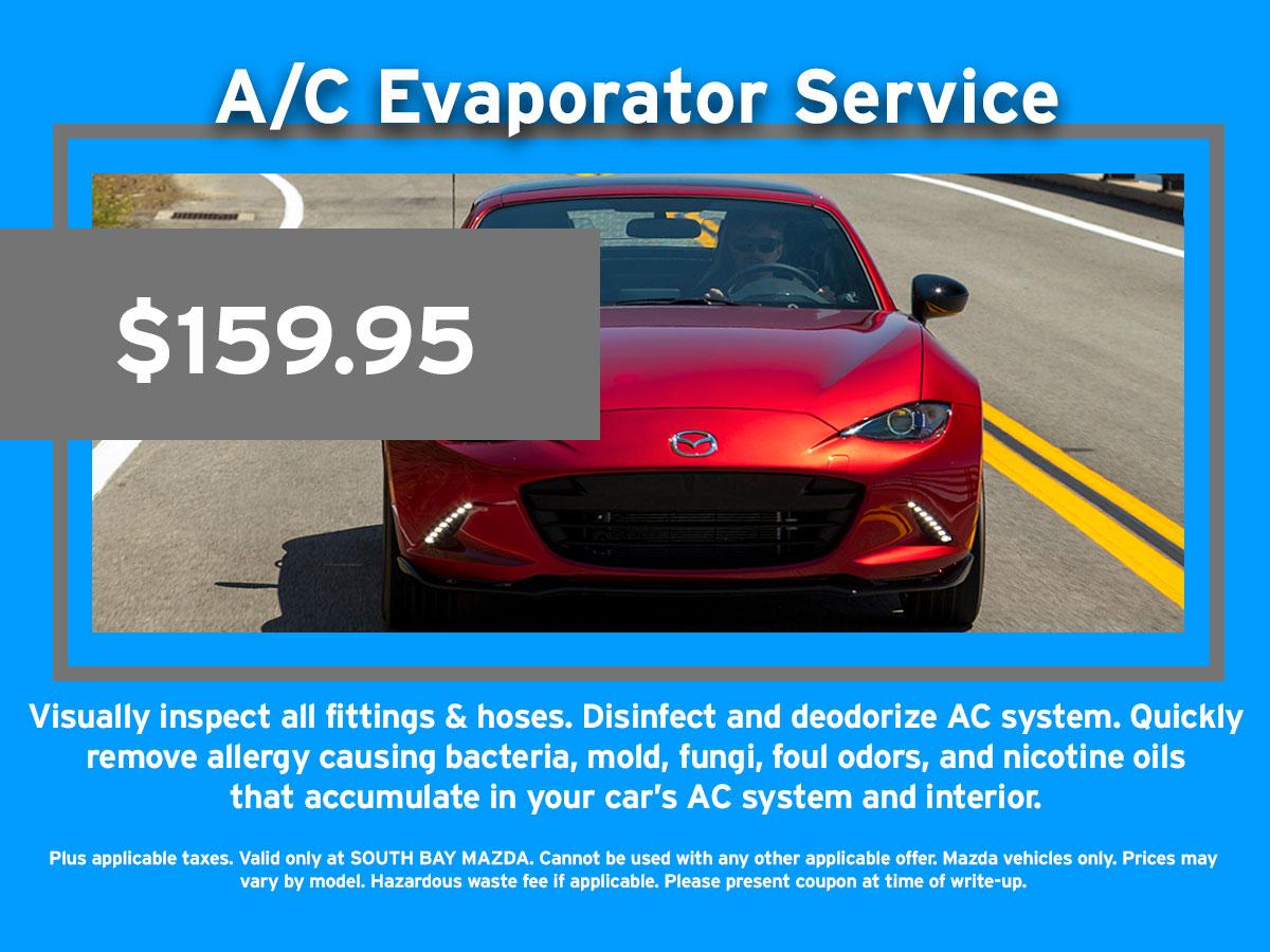 A/C Evaporator Service Coupon